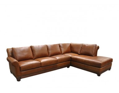 Echo Park Leather Sectional