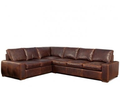 Massena Leather Sectional