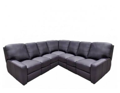 Mathews Leather Reclining Sectional