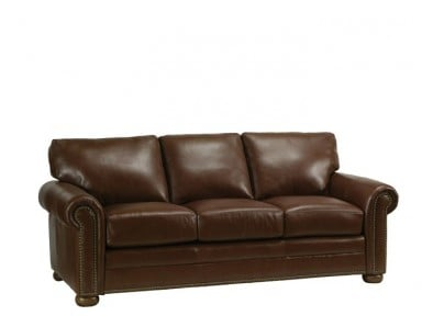 Monroe Leather Conversation Sofa & Set