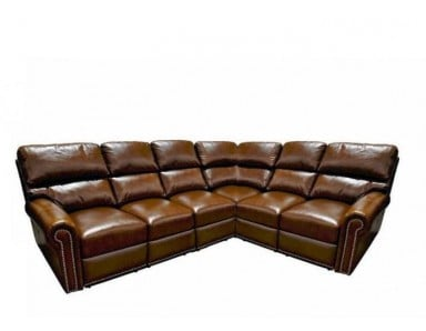 New Bern Leather Reclining Sectional