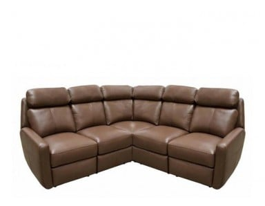 Ravenwood Reclining Leather Sectional - Available with Power Recline | Power Lumbar