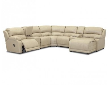 Charmed Leather Reclining Sectional