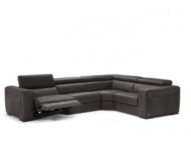 Natuzzi Editions B790 Forza Leather Sectional (Option 2 No Pleats) | Adjustable Headrest