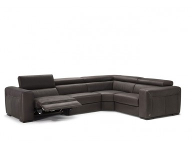 Natuzzi Editions B790 Forza Sectional (Option 2 No Pleats) | Adjustable Headrest