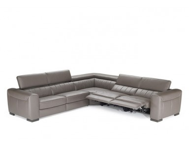 Natuzzi Editions B790 Forza Leather Sectional | Adjustable Headrest