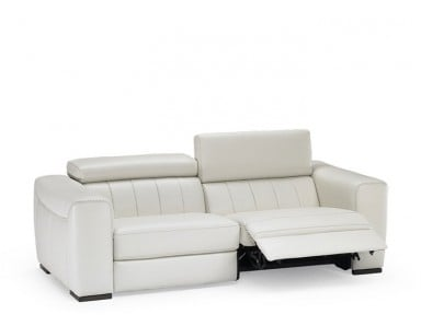 Natuzzi Editions B790 Forza Leather Sofa or Set | Adjustable Headrest
