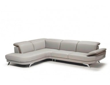 Natuzzi Editions B936 Principe Leather Sectional | Adjustable Headrest