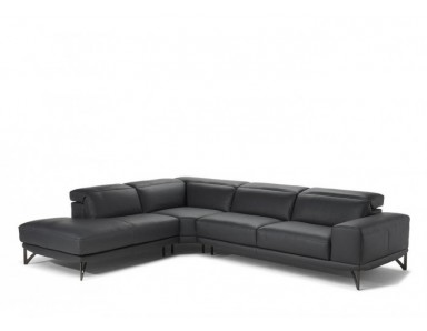 Natuzzi Editions B983 Vigore Leather Sectional | Adjustable Headrest