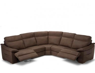 Natuzzi Editions C012 Pazienza Power Reclining Leather Sectional | Adjustable Headrest