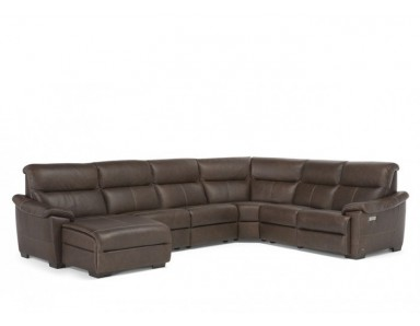 Natuzzi Editions C063 Potenza Reclining Leather Sectional | Adjustable Headrest - Lumbar