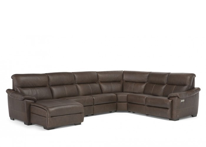 Natuzzi Editions C063 Potenza Reclining Leather Sectional ...