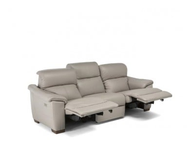 Natuzzi Editions C063 Potenza Reclining Leather Sofa & Set | Adjustable Headrest - Lumbar