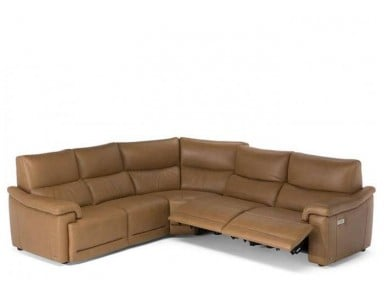 Natuzzi Editions C070 Brama Power Reclining Leather Sectional & Adjustable Headrest