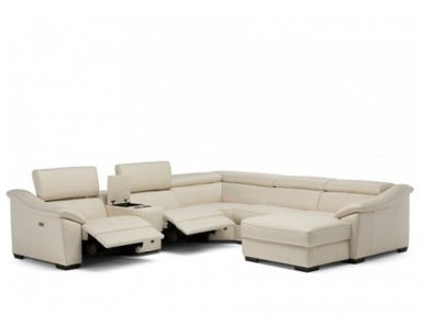 Natuzzi Editions C072 Power Reclining Leather Sectional | Adjustable Headrest