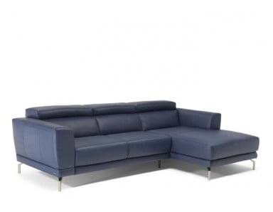 Natuzzi Editions C106 Tranquillita Power Reclining Leather Sectional & Adjustable Headrest