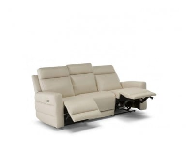Natuzzi Editions C121 Benevolo Power Reclining Sofa & Adjustable Headrest