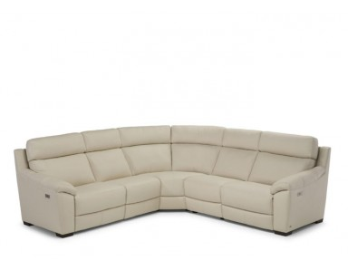 Natuzzi Editions C127 Power Reclining Leather Sectional & Adjustable Headrest