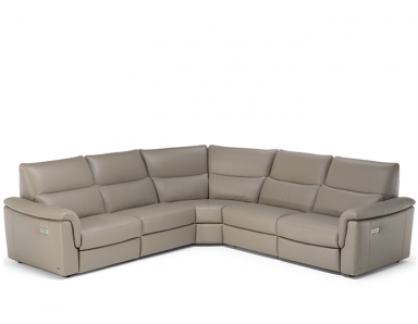 Natuzzi Editions C176 Amorevole Power Reclining Leather Sectional - Available With Power Tilt Headrest | Power Lumbar