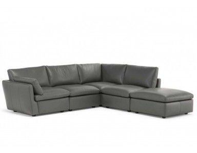 Natuzzi Editions C069 Leggerezza Leather Sectional