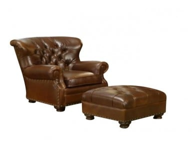 Omnia Britannia Tufted Chair & Ottoman