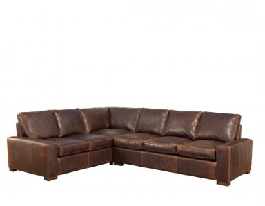 New River Oversized Leather Sectional (Large)