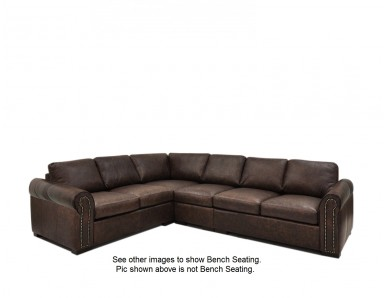 Sonoma Oversized Leather Sectional (Bench Seating)