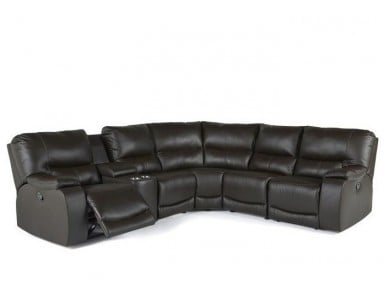 Conlin Reclining Leather Sectional