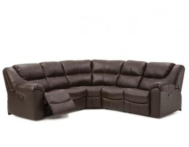 Emeril Leather Reclining Sectional