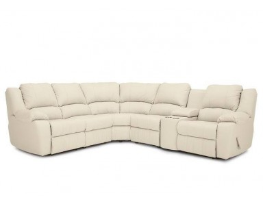 Jillian Leather Reclining Sectional