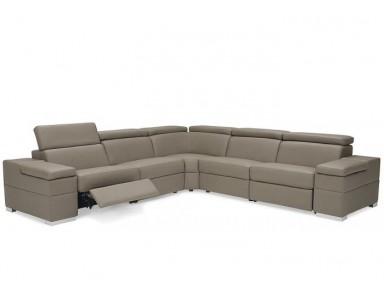 Moreland Leather Reclining Sectional