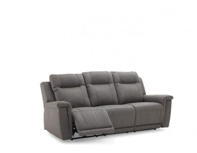 Revy Power Reclining Leather Sofa or Set - Available With Power Tilt Headrest