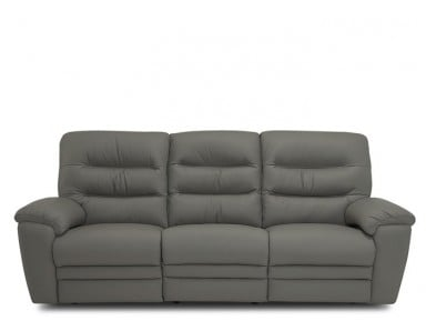 Kaylee Power Reclining Leather Sofa or Set - Available With Power Tilt Headrest | Power Lumbar