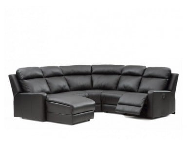 Palliser Forest Hill Leather Reclining Sectional