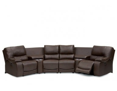 Palliser Norwood Leather Reclining Sectional