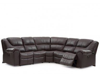 Palliser Parkville Leather Reclining Sectional
