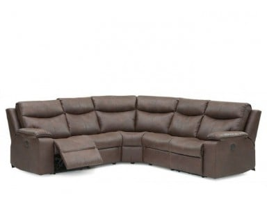 Palliser Providence Leather Reclining Sectional