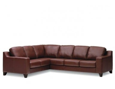 Palliser Reed Leather Sectional