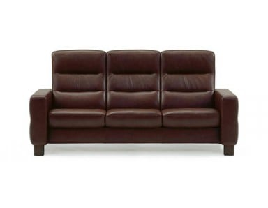 Stressless Wave High-Back Leather Sofa & Sectional