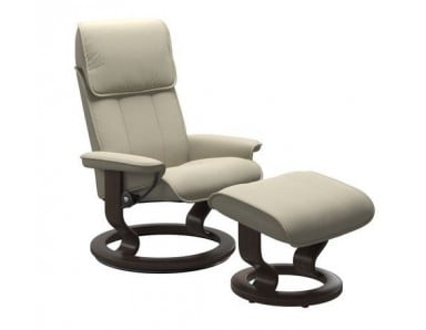 Stressless (Large) Admiral Chair & Ottoman (Classic Base)
