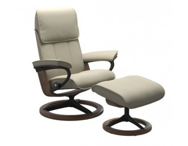 Stressless (Large) Admiral Chair & Ottoman (Signature Base)