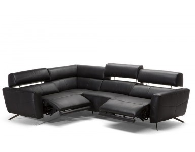 Natuzzi Editions C013 Sorpresa Reclining Leather Sectional | Adjustable Headrest