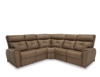 McGrath Power Reclining Leather Sectional - Available With Power Tilt Headrest | Power Lumbar