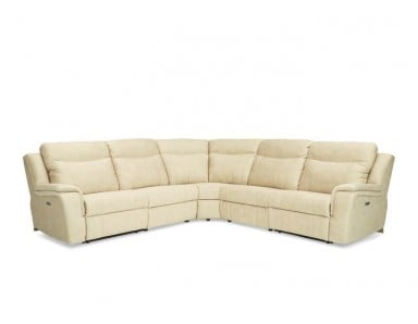 Booker Power Reclining Leather Sectional - Available With Power Tilt Headrest