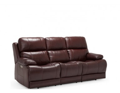 Kendra Leather Power Reclining Sofa - Adjustable Power Headrest
