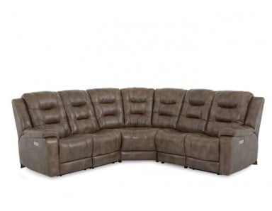 Lennon Power Reclining Leather Sectional - Available With Power Tilt Headrest | Power Lumbar