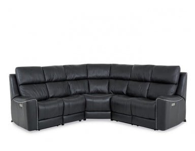 Tifton Power Reclining Leather Sectional - Available With Power Tilt Headrest | Power Lumbar