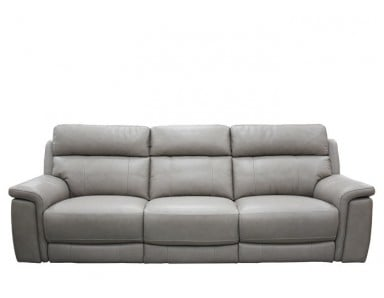 Crawford Power Reclining Leather Sofa With Power Tilt Headrest