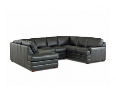 Alexandria (T Cushion) Leather Sectional