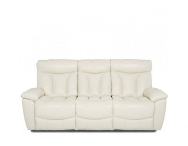 Plush Leather Reclining Sofa & Set